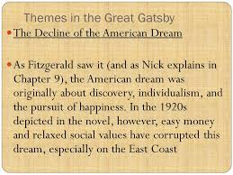 the great gatsby essay on the corruption of the american dream the great gatsby essay on the corruption of the american dream