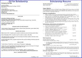 resume for scholarships. how to write ...