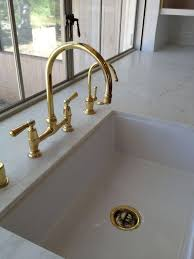 Fancy Unlacquered Brass Kitchen Faucet 82 Small Home Remodel