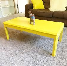 wood coffee table firm 35 light yellow just painted good condition size 108cm x 52cm tall 42cm furniture in orlando fl offerup