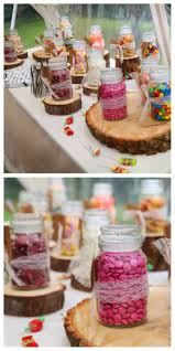 top ideas about wedding ideas maroon burgundy rustic theme diy sweet table cheap and easy to do simply collected coffee jars from friends
