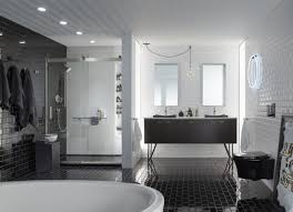 black bathroom.  Black Clean And Contemporary Black Bathroom For D