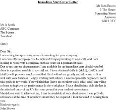 immediate start cover letter speculative covering letter examples