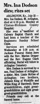 Obituary for Ina Dodson (Aged 86) - Newspapers.com