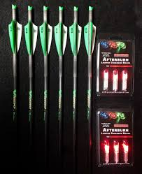 6 Victory Crossbow Arrows Bolts 6 Red Lighted Nocks