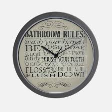 small bathroom clock: bathroom rules wall clock bathroom rules wall clock bathroom rules wall clock