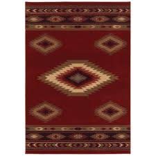Small Picture Home Decorators Collection Aztec Red 4 ft x 6 ft Area Rug 454488