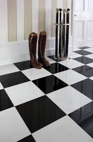 Fresh Decoration Black And White Marble Tile Clever Black White Tile Floor