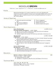 Good Resume 3 Resume Samples
