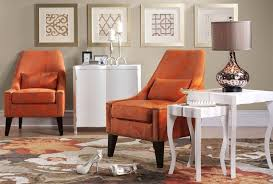Burnt Orange Living Room Furniture Nice Chairs Accent Chair