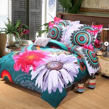 bright colored bedding for adults. Brilliant Adults Designer Bedding Set 4pcs Bohemia National DuvetDoona Cover Teal Blue Bright  Color Comforter Sets Peacock Printing Beddingin From Home  And Colored For Adults O