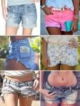 Модный джинсовые шорты