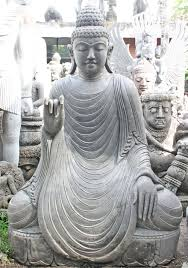 stone large teaching garden buddha statue 62