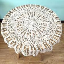 round crochet table cloth classic pineapple crochet pattern table cover popular round tablecloths for mom handmade round crochet table cloth