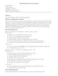 Bookkeeping Resume Bookkeeper Resume Samples Thrifdecorblog Com