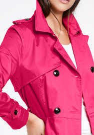 taifun double ted trench coat hot pink be the first to review this