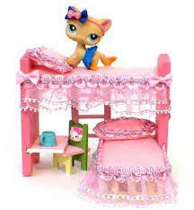 Littlest Pet Ooak Wood Bunk Bed Furniture Lps Or Dollhouse