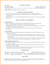 Impressive Job Resume Summary Of Qualifications With Additional 8