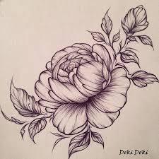 эскиз татуировки цветы черно белые 44995 тату салон дом элит тату