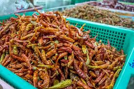 photo essay cooking thai food mama noi road affair mama noi thai cookery school dried chilli at local market in chiang mai