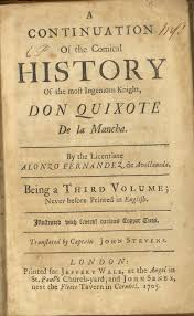 iconography of don quixote a continuation of the comical history of the most ingenious knight don quixote de la