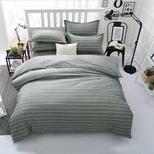100 cotton luxury bedding set simple style kids queen king duvet cover stripes deer flamingo