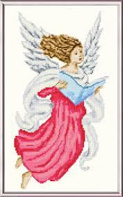 Angel Cross Stitch Patterns Beauteous Singing Angel Cross Stitch Pattern Angels