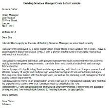 Sample Construction Cover Letters Building Services Manager Cover Letter Example Cover