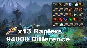 13 rapiers 94000 difference 207min 2nd longest match in dota 2