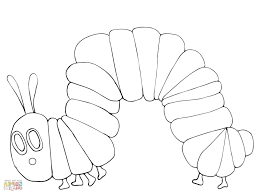 Hungry Caterpillar Butterfly Coloring Page Refrence Very Hungry