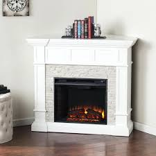 amish electric fireplace corner unit white heater