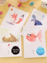 4 pcs a5 notebooks cartoon pattern diary book supplies