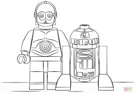 Small Picture Lego R2D2 and C3PO coloring page Free Printable Coloring Pages