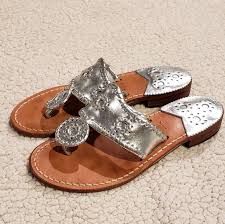 Jack Rogers Palm Whipstitch Beach Silver