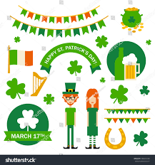 St Patrick S Day Designs St Patricks Day Design Elements Stock Vector Royalty Free