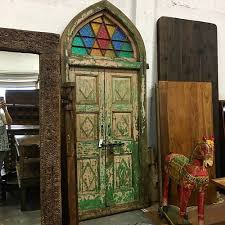 cathedral style reclaimed double door