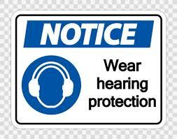Avis Porter une protection auditive sur fond transparent, illustration  vectorielle — Image vectorielle Seetwo © #255790744