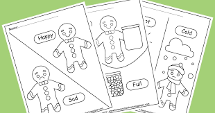 Each flavor is a taste of each moment:. Gingerbread Man Opposites Coloring Pages For Kids