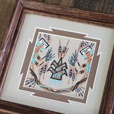 navajo sand painting by le hawley native american