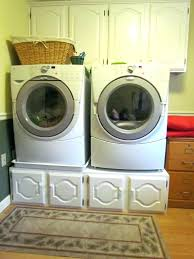 washer dryer pedestal wood samsung platinum and with drawers plans