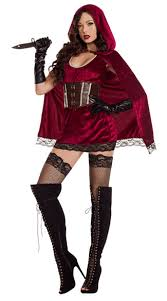 dark red riding hood costume red