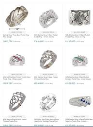 Sterling Silver Puzzle Rings Ringmania