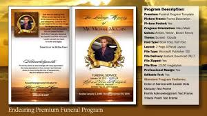 Download Funeral Program Templates Endearing Funeral Program Obituary YouTube 23