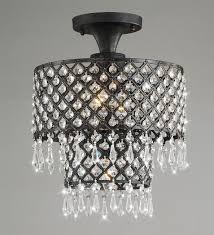 lillian 3 light antique bronze flush mount indoor crystal chandelier 15 h