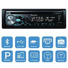 pioneer deh x4800bt bluetooth in dash cd car stereo audio receiver pioneer deh x4800bt bluetooth in dash cd car stereo audio receiver bundle combo w metra 996503 installation kit for 1998 up chrysler dodge jeep vehicles