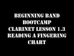 Clarinet Lesson 1.3 Reading A Fingering Chart - Youtube