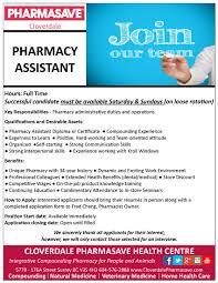 Pharmacy Assistant Duties Resume Resume Online Builder