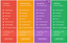 Pricing Table Templates 35 Best Html Css3 Responsive Pricing Table Templates