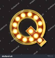 Marquee Light Letter - Vector - Q