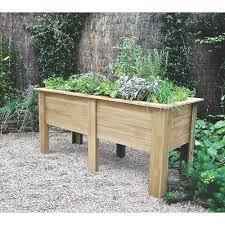 raised bed frame cover winter garden wooden tall vegetable 1 8m long root new uk